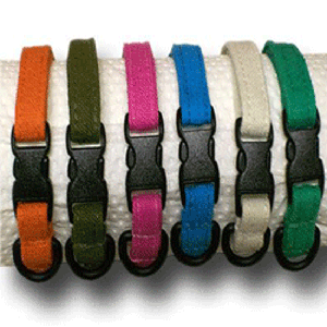 Sleeping Dogs Hemp Dog Collar - Small - Pick a Color