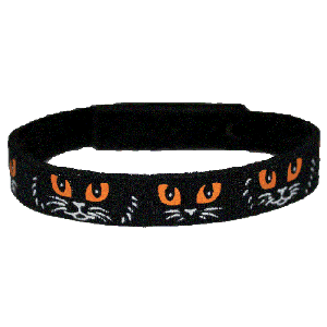 Beastie Band Cat Collar - Cat Faces