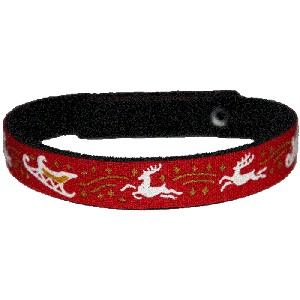 Beastie Band Cat Collar - Reindeer and Sleighs