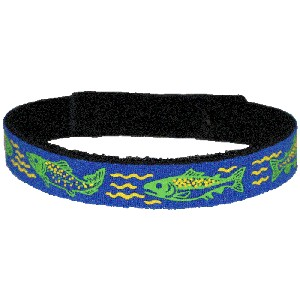 Beastie Band Cat Collar - Swimming Salmon - Choose a Color