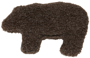West Paw Design Gallatin Grizzly Dog Toy - Chocolate Brown