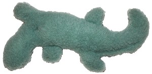 West Paw Design Eco-Fleece Salamander Dog Toy - Willow