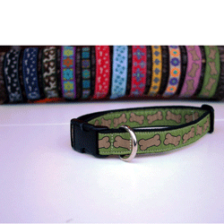 "Good Dog Hemp/Canvas Dog Collar 1"" - Large - Choose a Design"