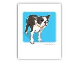 Grrreeting Card Boston Terrier Standing