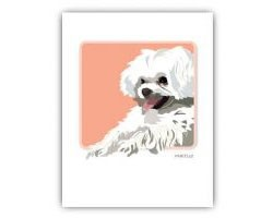 Grrreeting Card Maltese Smiling